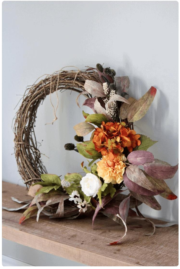 fall diy halloweeen wreath ideas autumn