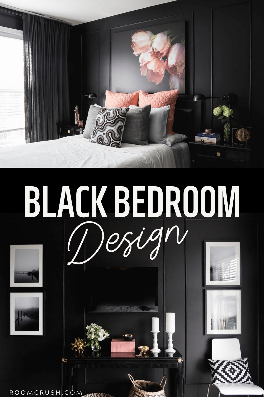 black bedroom bold style