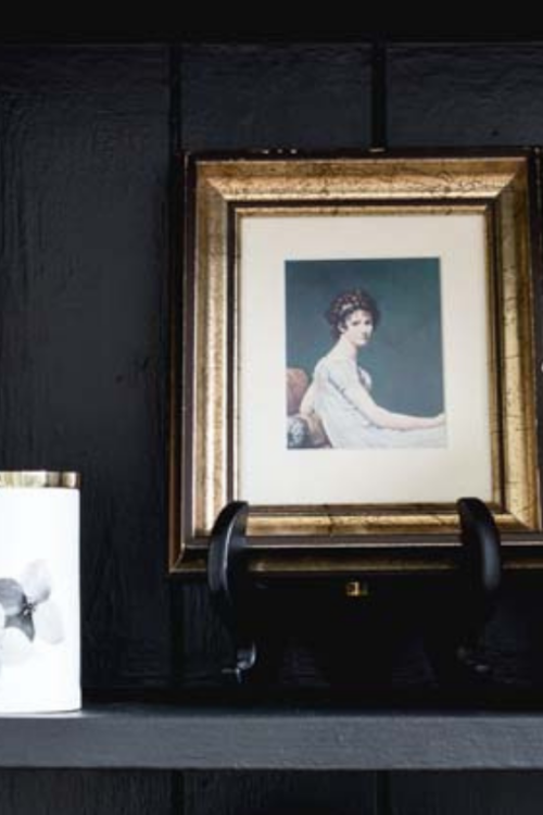 How To Style A Moody Black And White Bookcase