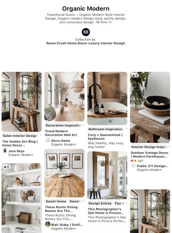 organic modern interior design style pinterest inspiration room crush