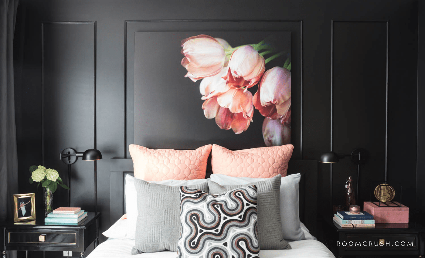 How To Create The Ultimate Feature Wall, room crush featured black bedroom paint ideas