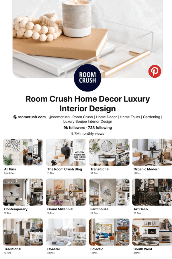 roomcrush pinterest find your design styles